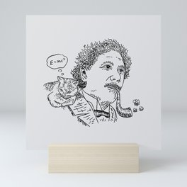 Einstein's Cat Mini Art Print