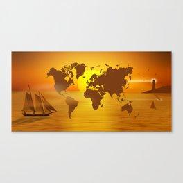 Sailing Around The World Canvas Print