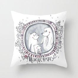 3 little bears Throw Pillow