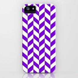Herringbone Texture (Purple & White) iPhone Case