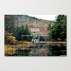 Seek & Find  Canvas Print