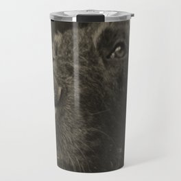 Skeptical Dog Travel Mug
