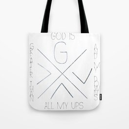 God is greater Tote Bag