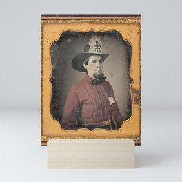 Portrait of a Fireman - Daguerreotype Mini Art Print