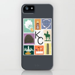 Kansas City Landmark Print iPhone Case