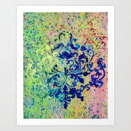 Monochrome Kaleidoscope Art Print
