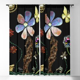 Happy Day in the Garden, Jewelry Scanography Blackout Curtain