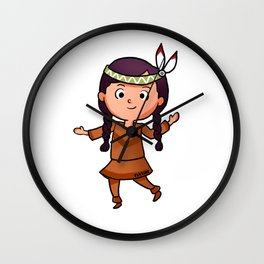 Nanny Indian feather comic gift Wall Clock