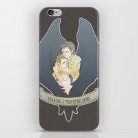 destiel iPhone & iPod Skins featuring [ Supernatural ] Destiel Castiel Dean Winchester by Vyles