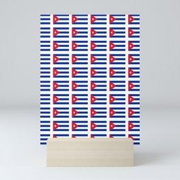 Flag of Cuba 4 -cuban,havana,guevara,che,castro,tropical,central america,spanish,latine Mini Art Print