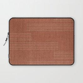 Minimal, Pattern, Boho Prints, Terracotta Laptop Sleeve