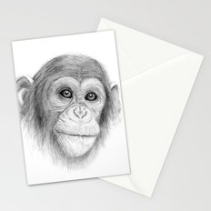 A Chimpanzee :: Not Monkeying Around Stationery Cards