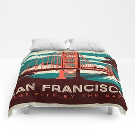 Vintage poster - San Francisco Comforters