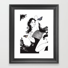 Black Nimf Framed Art Print