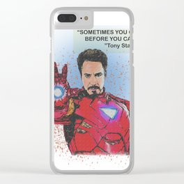 Tony Stark Desain 002 Clear iPhone Case