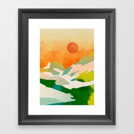 mountains landscape abstract Framed Art Print