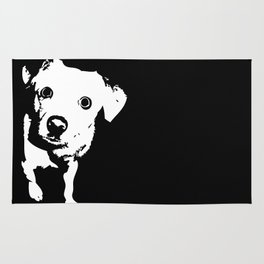 Graphic Dog | Black & White Rug