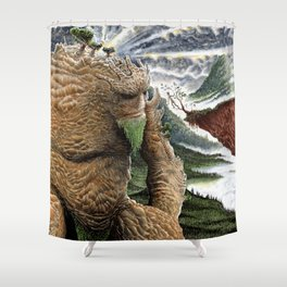 The Earth Golem Shower Curtain