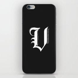 Letter V iPhone Skin