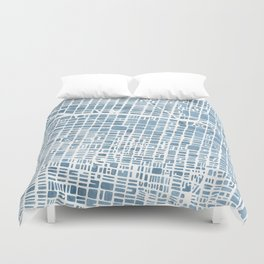 Philadelphia City Map Duvet Cover