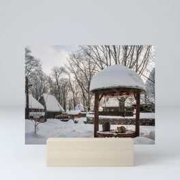 Pastoral winter scene Mini Art Print