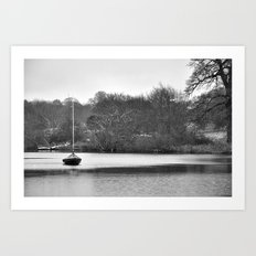 Lone boat Art Print
