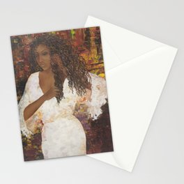 Brazilian Girl in Night Gown Stationery Cards
