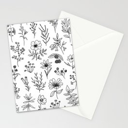 White Patagonian Flowers Stationery Cards