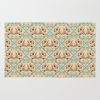antlers Area & Throw Rugs featuring Antlers  by GeeGrevesy