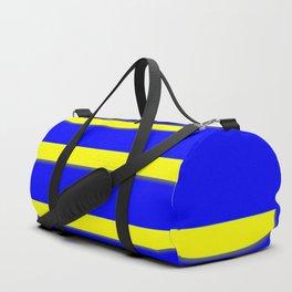 Bright Blue, Bright Yellow Graphic Design Duffle Bag