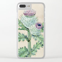 Downy thistle Clear iPhone Case