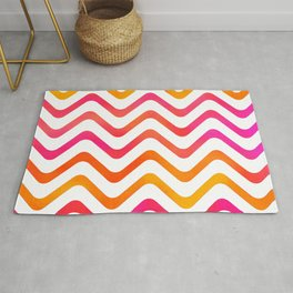 High Noon Stripe Waves Rug