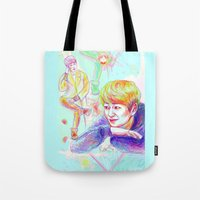 shinee Tote Bags featuring SHINee Onew by sophillustration