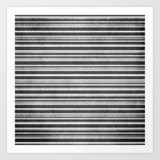 Chalkboard Stripes Art Print