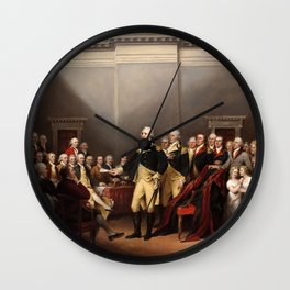 General George Washington Resigning His Commission by John Trumbull (1824) Wall Clock