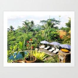 Bali paradise Art Print