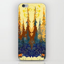 Spruce Trees Forest Browns-sage Green Modern Landscape iPhone Skin
