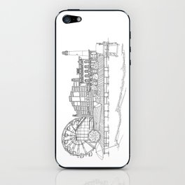 The Jersey Shore by the Downtown Doodler iPhone Skin
