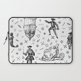 Pirate's Life Stick and Poke Illustration Laptop Sleeve