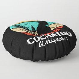 Cockatoo Retro Vintage Colorful Bird Whisperer Floor Pillow