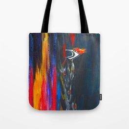 Fire Bird (Pileated Woodpecker) Tote Bag