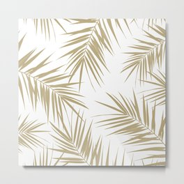 Palm Leaves Cali Finesse #2 #gold #tropical #decor #art #society6 Metal Print