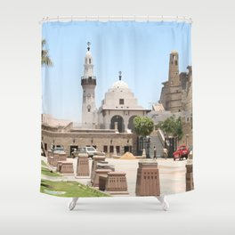 Temple of Luxor, no. 15 Shower Curtain