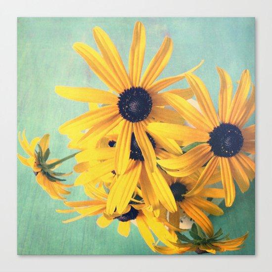 Sweet Yellow Flowers Canvas Print