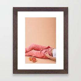 Legs with Grapefruit Framed Art Print