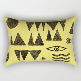 Tangential Paralysis. Rectangular Pillow