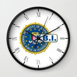 FBI Seal Mockup Wall Clock