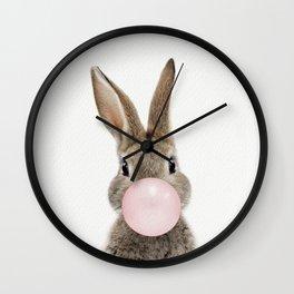 Bubble Gum Bunny Wall Clock