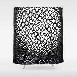 Diamonds and Dots Shower Curtain