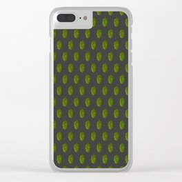 Hops Dark Gray Pattern Clear iPhone Case